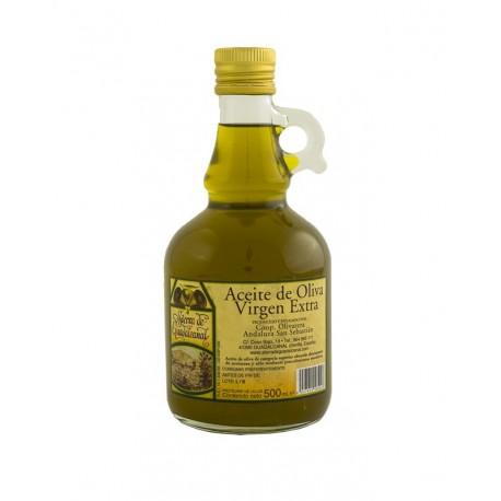 Jarra de Cristal 500 ml, Aceite de Oliva Virgen Extra
