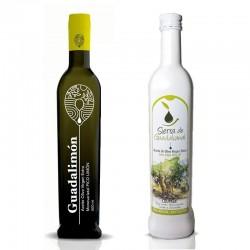 Caja 6 Botellas de cristal de 500 ml. 3 de Sierra de Guadalcanal Alta Selección + 3  de Guadalimón