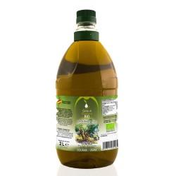 9 Botellas de cristal de 2 litros de Aceite de Oliva Virgen Extra Coupage. Sierra de Guadalcanal ECOLÓGICO