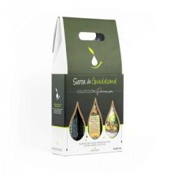 Estuche Regalo: Tres botellas de cristal de 500 ml de Aceite de Oliva Virgen Extra